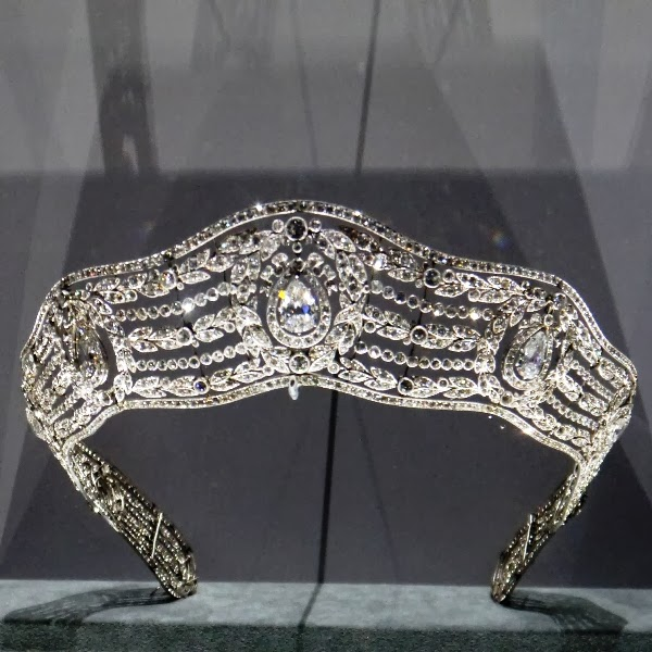 Cartier diamond tiara at the Grand Palais exhibition in Paris