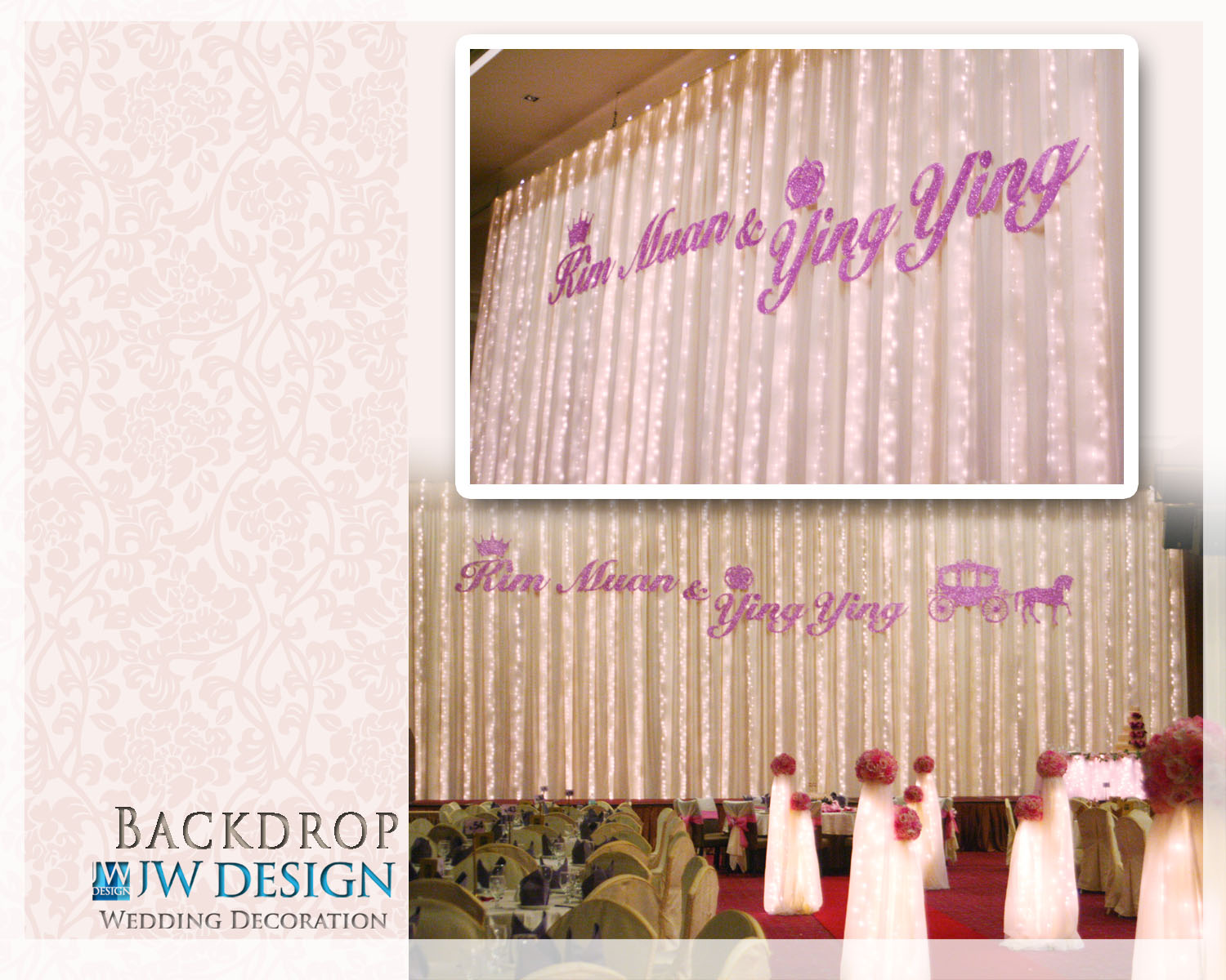 Jw design wedding decoration october 2011 kim muan ying yings wedding klang centro imperial ballroom junglespirit Gallery