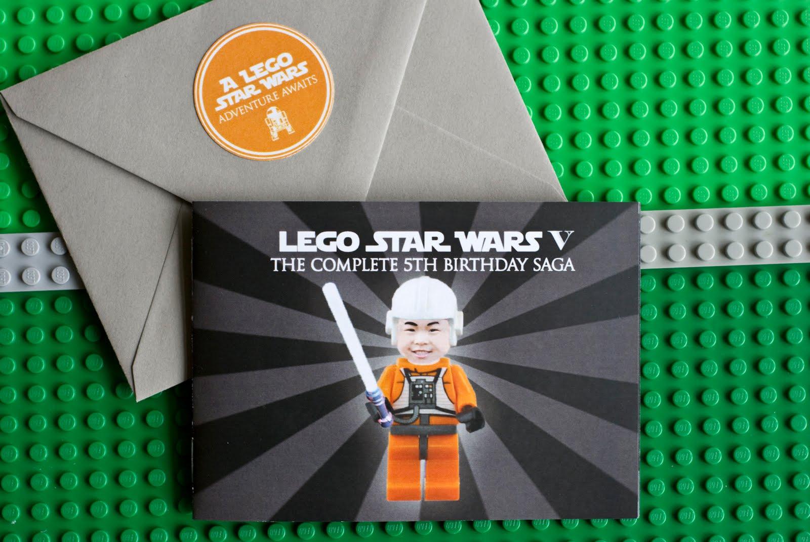 Pure Joy Events: Lego Star Wars Birthday Party: Invitations