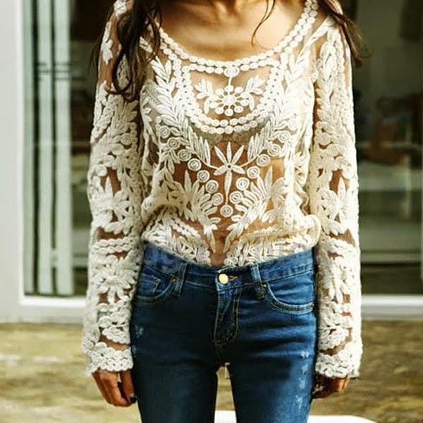Look de Calça Jeans com Blusa Elegante - Toda bordada - Perfeito para um jantar casual ou uma reunião de negócios.