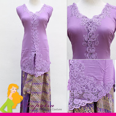 Kebaya. Sweet Purple. Material: Classic Cotton NOW PROMO RM100 ONLY!! NP: RM165 *BELOM DIJAHIT