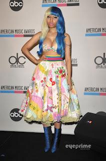 Nicki Minaj cleavage 2011 AMA Nominees Press Conference in Los Angeles