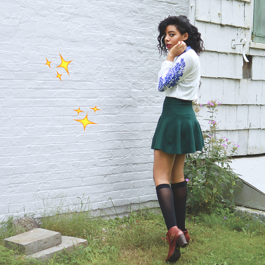 Blipster Indie Fashion Blogger Anais Alexandre of Down to Stars in Cat Footwear boots for Fall must haves