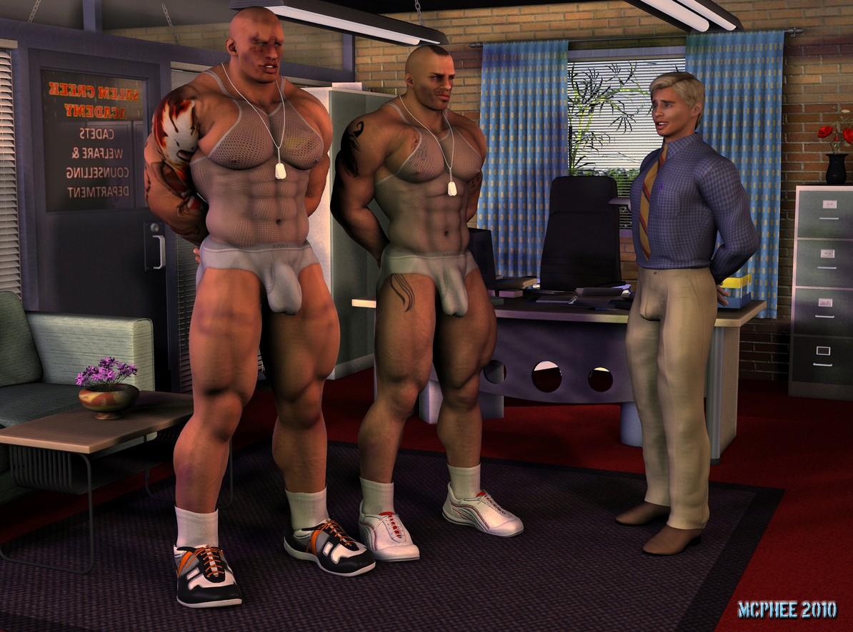 Gay 3D Hunk Erotica Art
