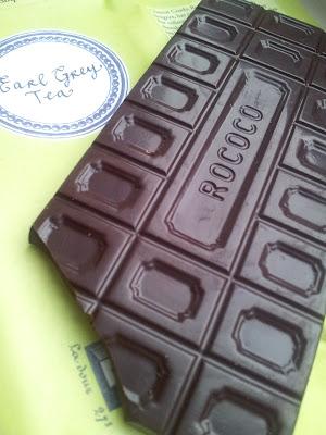Rococo chocolate, artisan chocolate, earl grey