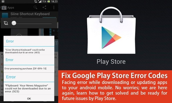 Fix Google Play Store Error Codes