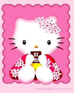 Imagenes hello kitty para imprimir en rosa