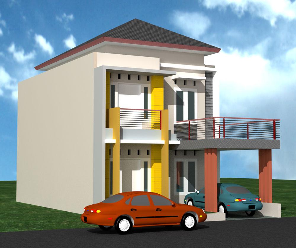 contoh desain rumah minimalis modern 2 lantai
