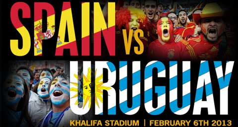 Spanyol Vs Uruguay 2013