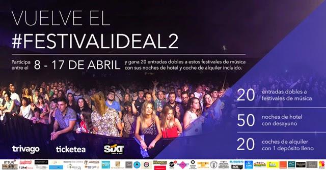 festivalideal, #festivalideal2, tongo, timo, ticketea, sixt, trivago, concurso, ganadores