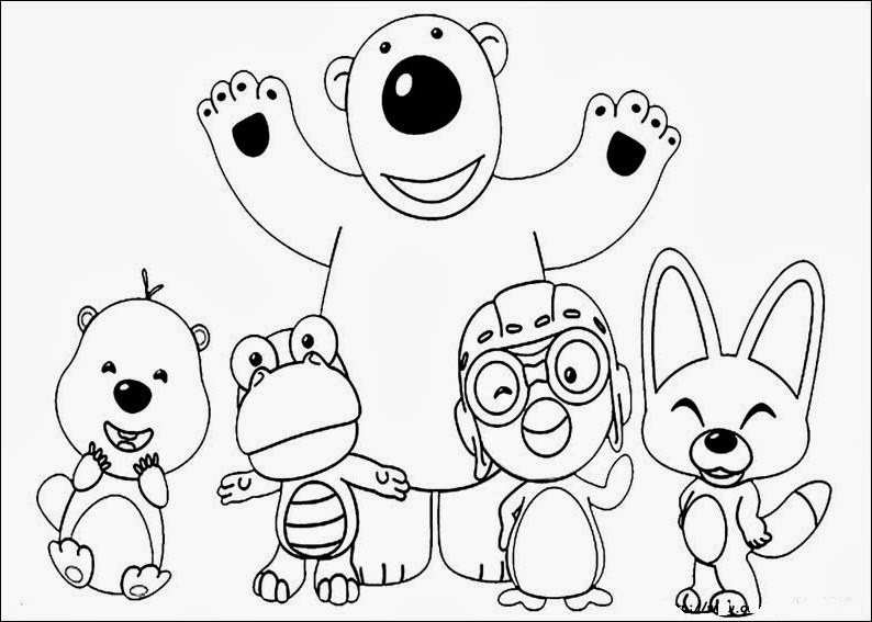 Fun Coloring Pages: Pororo Coloring Pages