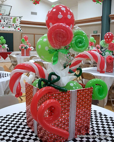 with designer angela walker we came up with these festive christmas balloon candy gift boxes below she was wanting an overall dr seuss ish look - Dr Seuss Christmas Decorations