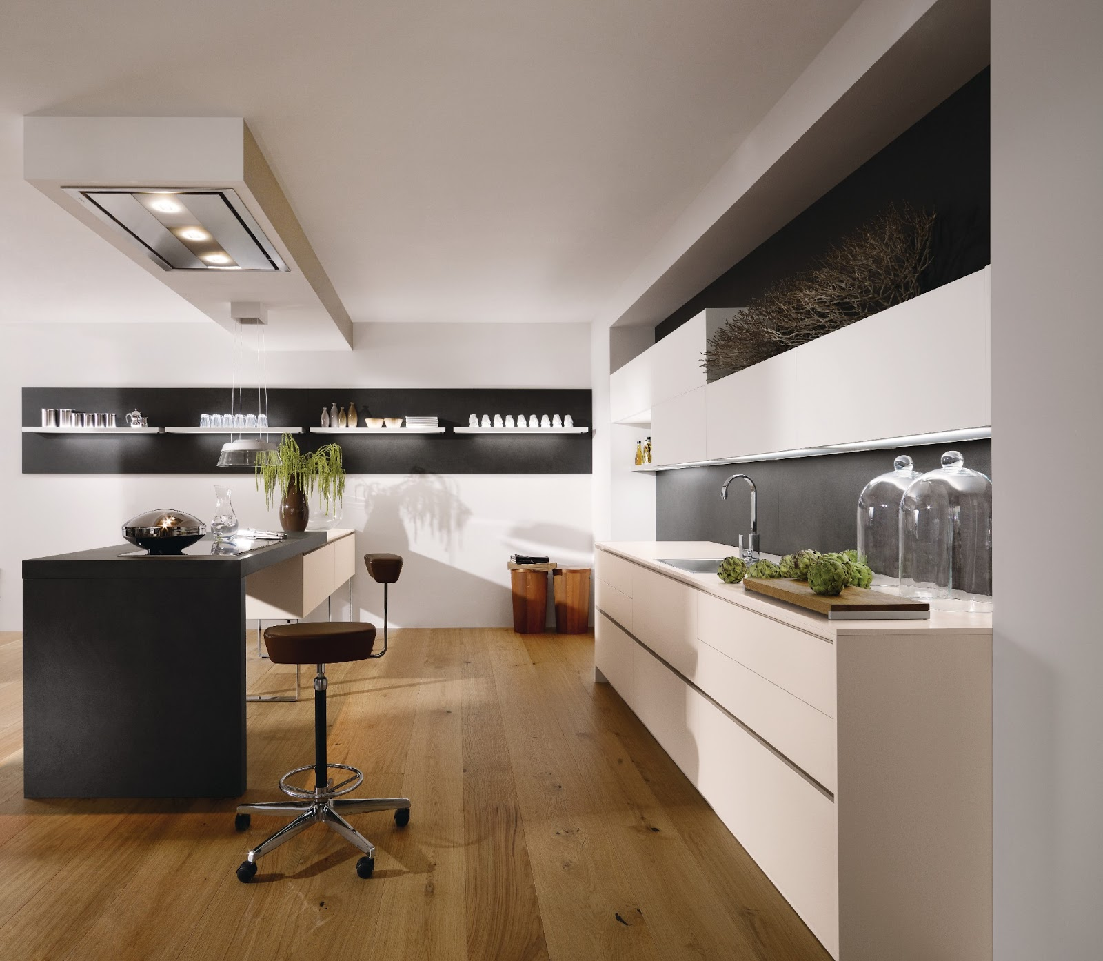 Cuisine design et travaill e for Plafond moderne design