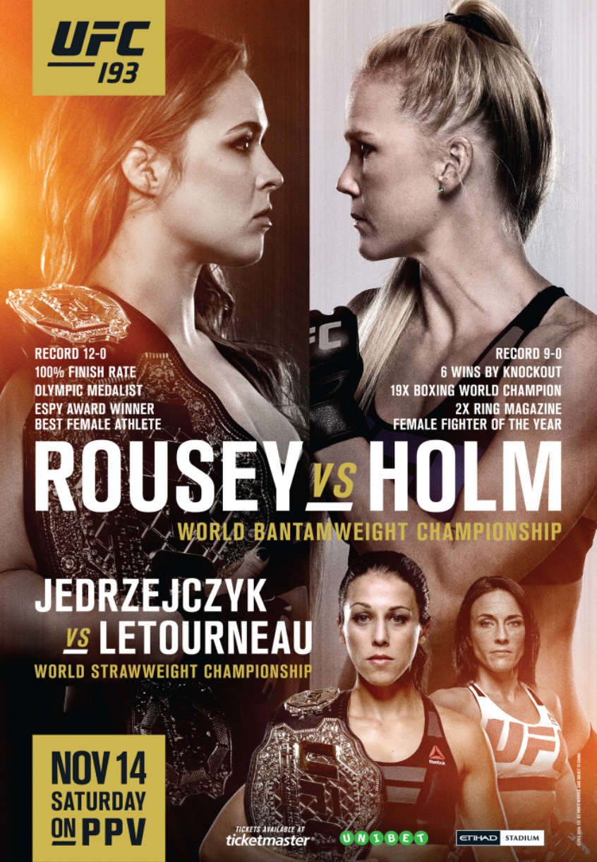 OUFC 193: Rousey vs. Holm