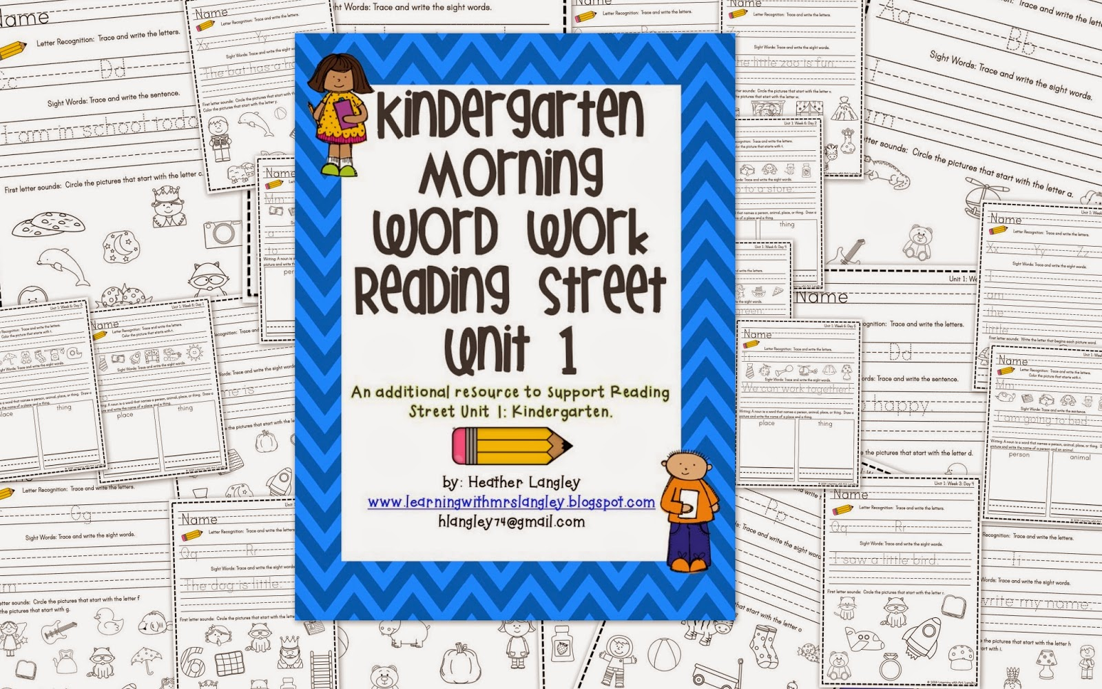 http://www.teacherspayteachers.com/Product/Kindergarten-Morning-Word-Work-Reading-Street-Unit-1-1173277