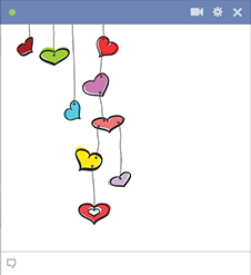Colored hearts emoticons