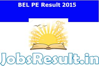BEL PE Result 2015