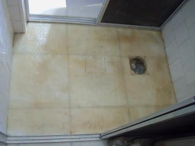 Revestimento em piso de banheiro