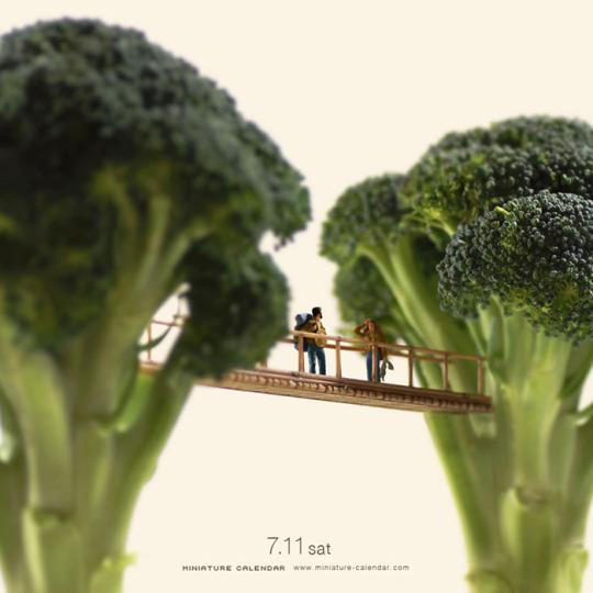 Broccoli bridge Tatsuya Tanaka Miniature Calendar