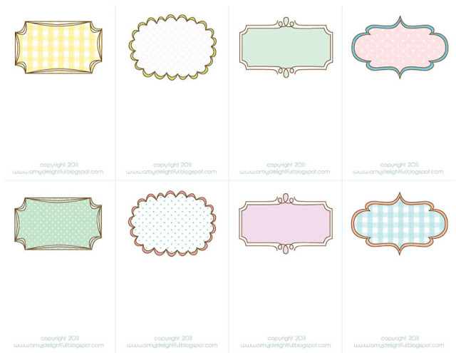 Amazing image in printable placecards