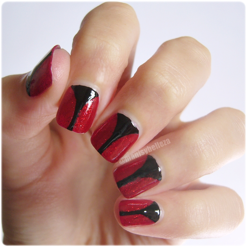 Tutorial nail art facil sencillo Halloween elegante easy nails