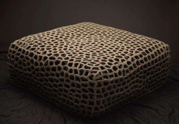 Muebles tejidos a mano sillines asientos