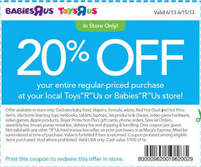 Babies R Us Printable Coupons October 2013