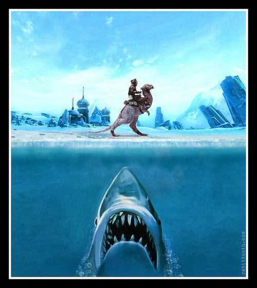 Poster crossover: Star Wars / Tiburón