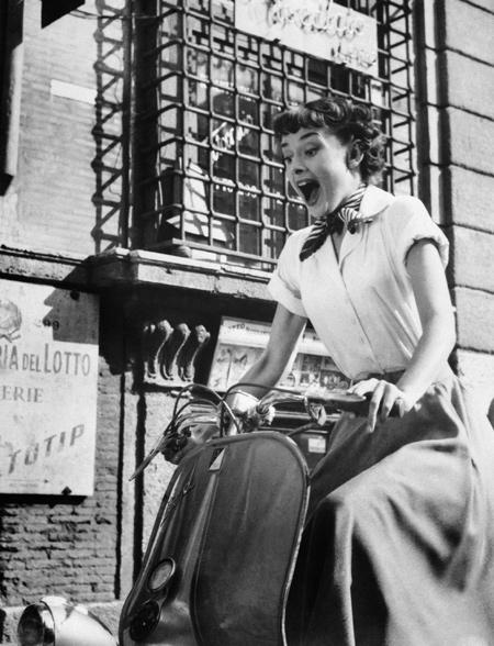 Audrey Hepburn Vacaciones en Roma