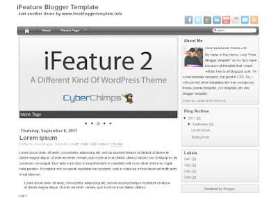 iFeature Blogger Template