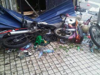 motosikal yang dirosakkan oleh peserta Bersih 3.0