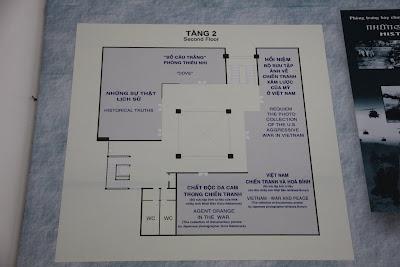 Plano de la segunda planta del Museo Guerra de Vietnam