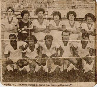 Uma das equipes Profissional do 21 de Abril - 1978