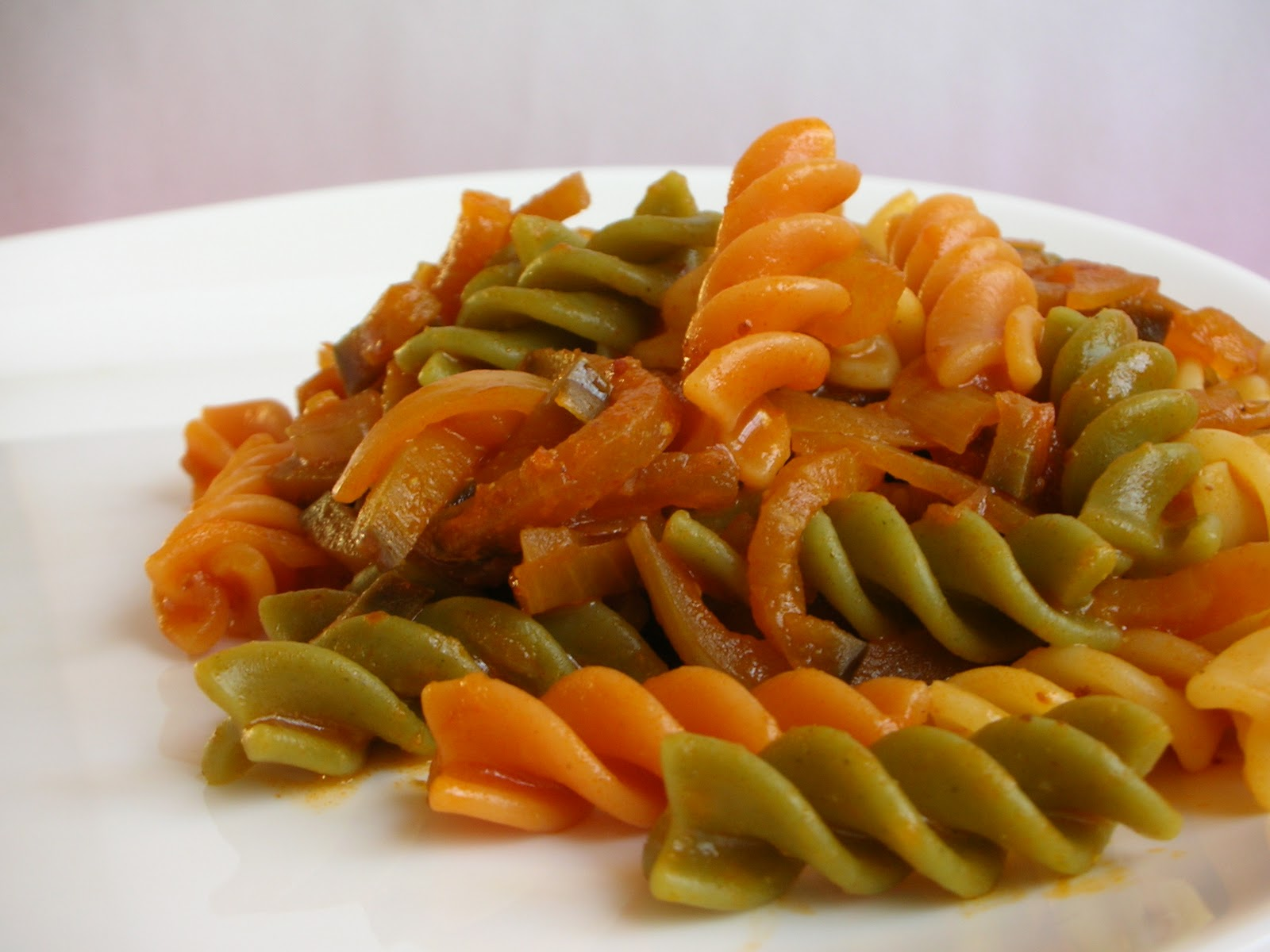 Eggplant and tomato sauce with pasta