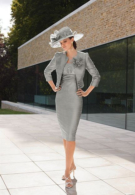Silver Mother of the Bride Dress