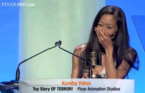 Kureha Yokoo Toy Story of Terror Annie Awards Speech - Pixar Post