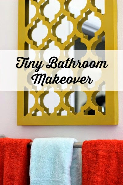 Bright and modern tiny bathroom makeover.