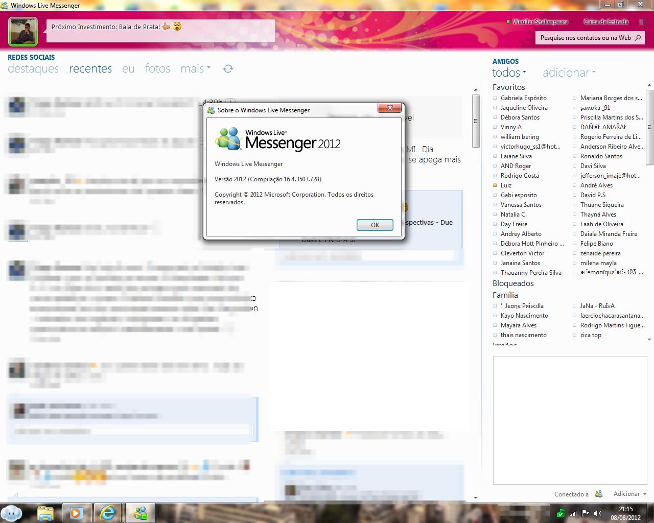 msn messenger 2012 w a informática