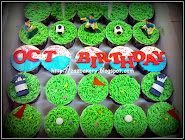 Golf & Soccer Theme Cupcake