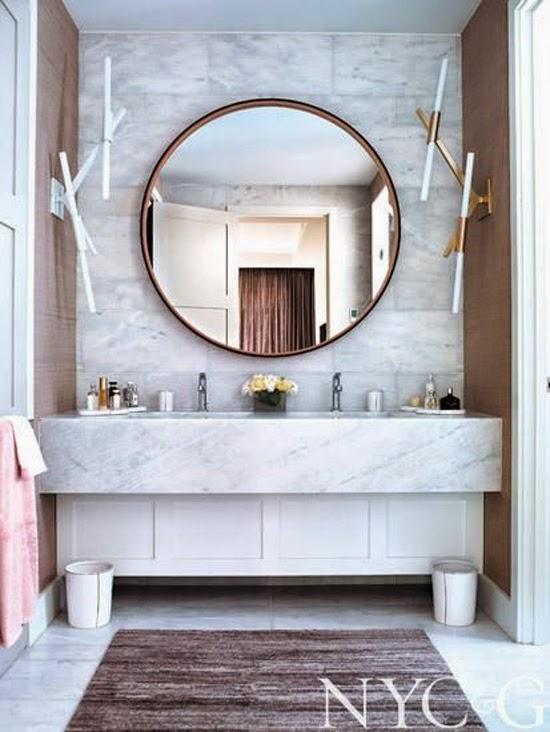 Souvent Tendance : un miroir rond dans ma salle de bain | Madame décore FZ31
