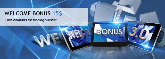 Koloforex cung cấp 2 coupon bonus 15$ từ Roboforex