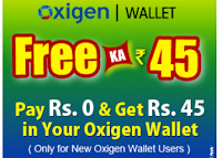 (Again) Oxigen Wallet : Get Free Rs. 45 Credit for New Users on Oxigen Wallet: Buytoearn