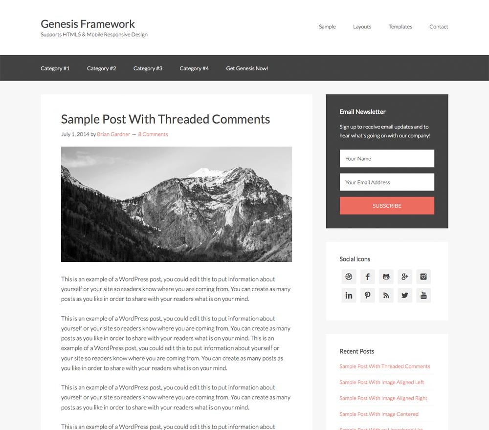 Genesis Framework ngon từ Wordpress đến Blogger