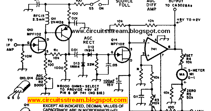 forum diagram  build a agc system for ca3028 rf amplifier wiring diagram schematic