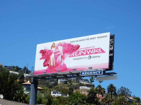 Project Runway season 14 Vote us Emmy runway billboard