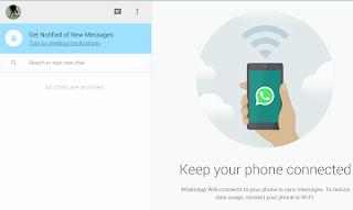 koneksi whatsapp ke komputer sukses