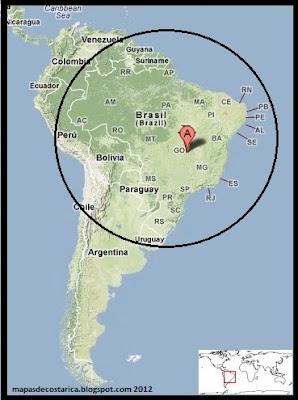 Mapa de Relieve. Ubicación de Brasil en Sudamérica 2012