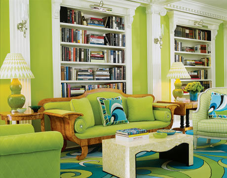 Home Interior Design: Interior Designs Living Room With Green Walls