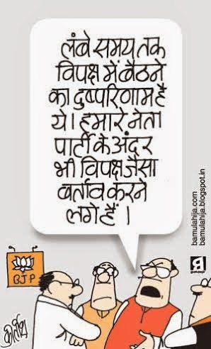 bjp cartoon, cartoons on politics, indian political cartoon, election 2014 cartoons, lal krishna advani cartoon, sushma swaraj cartoon, jaswant singh cartoon, bjp cartoon