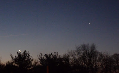 new moon low and venus high